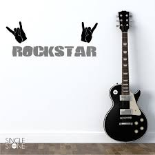 Nursery Rock Star Wall Decal Vinyl Wall Decals Stickers Art Etsy