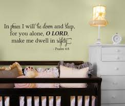 Psalm 4 8 In Peace I Will Lie Down And Sleep For You Alone Lord Bible Wall Quote Vinyl Decal Sticker Ozdeco T S Polonaiz