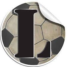 Wall Letters L Soccer Ball Custom Letter Tiendamia Com