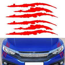 2x Headlight Claw Scar Scratch Monster Stripe Decal Camaro Dodge Charger Sticker Ebay
