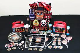 Cotillon Cumpleanos Five Nights At Freddy S Personalizado