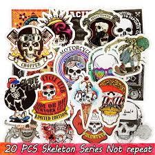 Punk Skull Vinyl Stickers Bomb Horror Doodle Decals Waterproof For Diy Laptop Skateboard Guitar Bicycle Motorbike Decoration Gifts Decoration Stickers For Walls Decoration Wall Stickers From Kg2007 0 99 Dhgate Com