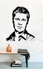 Amazon Com Vinyl Wall Decal Brad Pitt Movie Film Home Decor Sticker Vinyl Decals Home Kitchen