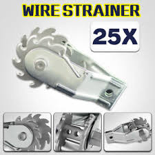 25pcs Electric Inline Ratchet Wire Strainer Tensioner Fencing Fence Energiser Au Ebay