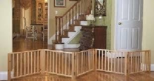 Wood Folding Dog Gate Portable Retractable Pet Fence Indoor Free Standing Ramp Dog Gate Indoor Dog Fence Pet Fence