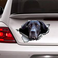 Black Great Dane Sticker Car Decoration Car Sticker Etsy