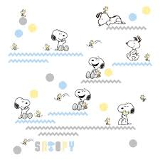 My Little Snoopy Woodstock Blue Yellow Gray Wall Decals Appliques Sold By Lambs Ivy Rakuten Com Shop