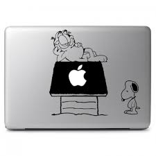 Garfield Snoopy Comic Crossover Apple Macbook Air Pro 11 13 15 17 Vinyl Decal Sticker Dreamy Jumpers