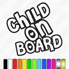 Child On Board Car Sticker Vinyl Kids Of Board Sticker Car Window Sticker Decal Ebay