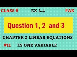 11 ex 2 4 class 8 q 1 2 3 chapter 2