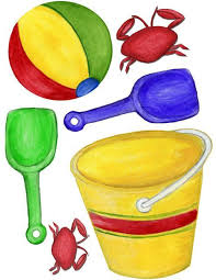 Beach Ball Pail Shovel Wall Stickers