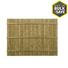 6 Ft H X 8 Ft W Pressure Treated Southern Yellow Pine Dog Ear Fence Panel In The Wood Fence Panels Department At Lowes Com