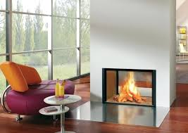 two sided gas fireplace vent less