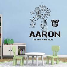 Amazon Com Transformer Combat Robot Custom Name For Wall Decal Vinyl Sticker For Home Decor Handmade