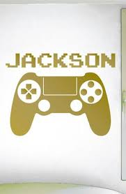 Video Game Custom Name Wall Decal 0415 Video Game Controller Resem Wall Decal Studios Com