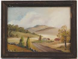 "Ada L Davis (20th Century) Oil On Board Landscape Titled ""Vermont ..."