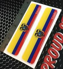 Car Truck Graphics Decals Ecuador Flag Quito Proud Domed Decal Car Emblem Flex 3d 4 X1 Set Of 2 Stickers Auto Parts And Vehicles