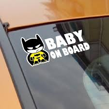 Baby Batman Baby On Board Vinyl Car Decal Sticker Reflective Tape Stickers Wish