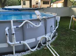 Intex Fountain Its Tooooo Strong Diy Swimming Pool Pool Plumbing Above Ground Pool