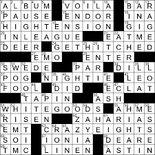 some annual s crossword clue