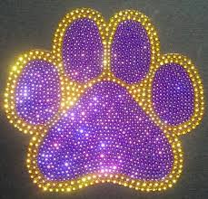 Pin By My Purple World On Purple Paws Rhinestone Crafts Rhinestone Car Decal Rhinestone Paw Print