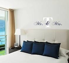 Amazon Com Personalized Name Mr And Mrs Wall Decal Initial Wall Sticker Handmade