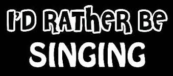Lettering Car Decal Sticker I D Rather Be Singing Sing Microphone Karaoke Ebay