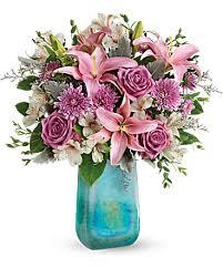 teleflora s art glass treasure bouquet
