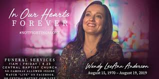 Today we remember: Memorial service for Wendy Anderson