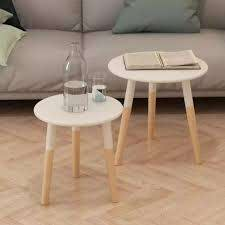 small round side tables vintage retro