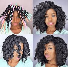 milkshake straw curls on natural hair