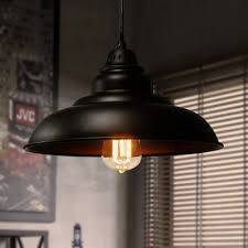 style saucer hanging ceiling light iron