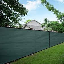 Amazon Com Love Story 6 X50 Dark Green Fence Privacy Screen 88 Blockage Windscreen Mesh Fence Cover 200 Gsm Garden Outdoor
