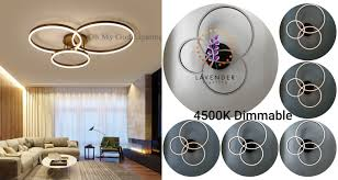 Đèn Led mâm Hoa 3 vòng tròn DM028_03 DIMMABLE