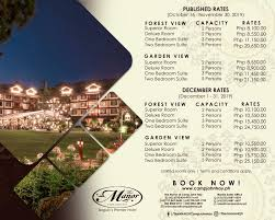 the manor baguio wedding package