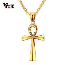 vnox retro ankh necklace egyptian cross
