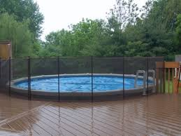 Brown Above Ground Pool Fence Life Saver Pool Fence North New Jersey