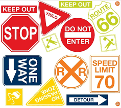 Road Signs 14 Big Wall Decals Cars Traffic Room Decor Stop Speed Limit Stickers Art Wall Kids Road Signs Decal Wall Art