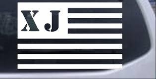 Jeep Xj American Usa Flag Right Car Or Truck Window Decal Sticker Rad Dezigns