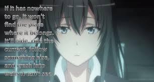 kuroha akise on quote by yukino yukinoshita anime