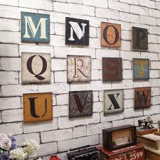 Buy Creative Home Retro Wall Letters Of The Alphabet Wall Stickers Bedroom Children 39 S Room Wall Decorations Wall Small Pendant In Cheap Price On M Alibaba Com