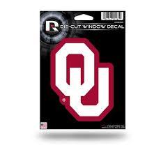Oklahoma Sooners 5 X 4 Die Cut Decal Window Car Or Laptop New Hub City Sports
