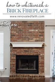 whitewash a fireplace renovated faith