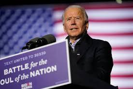 Joe Biden speaks outside Delaware home