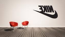 Nike Logo Wall Decal Vinyl Sticker Decor Sports Brands Wall Home Garden Decals Stickers Vinyl Art