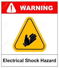 Warning Electrical Shock Hazard Banner High Voltage Sign Or Electrical Royalty Free Cliparts Vectors And Stock Illustration Image 60720011