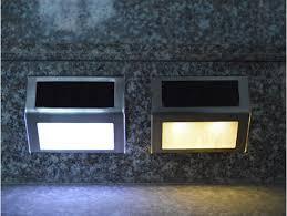 10pcs led solar power lights warm cold