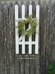 Farmhouse Picket Fence Greenery Wreath Farmhouse Decor Wall Etsy