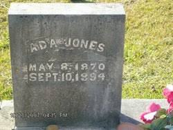Ada Collins Jones (1870-1894) - Find A Grave Memorial