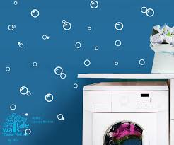 Laundry Wall Decals Bubble Wall Decals For Bathroom